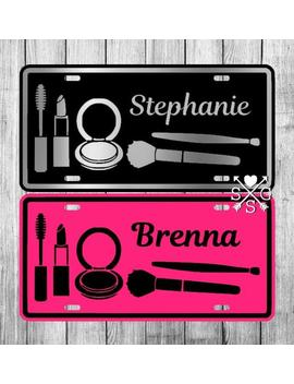 Personalized Makeup License Plate Makeup Artist Car Tag Makeup Artist Gift by Etsy