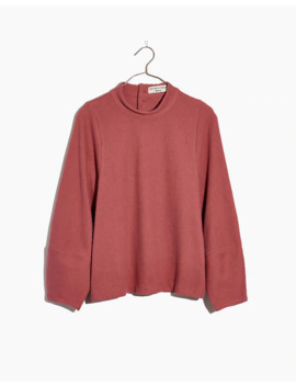 Texture & Thread Button Back Mockneck Top by Madewell