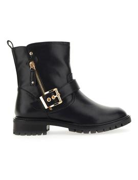 Tawny Buckle Biker Boot Wide E Fit by Simply Be