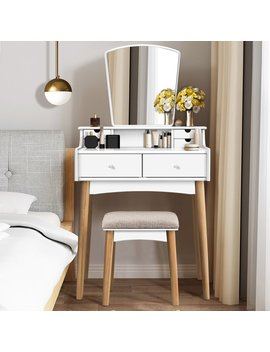 White/Natural Bedarra Vanity Set With M Irror by Ebern Designs