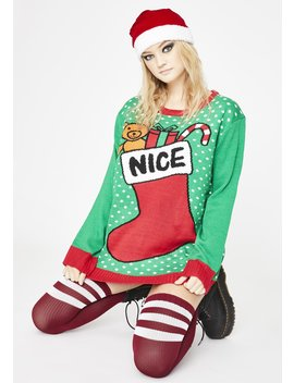 The Nice List Holiday Sweater by Dolls Kill