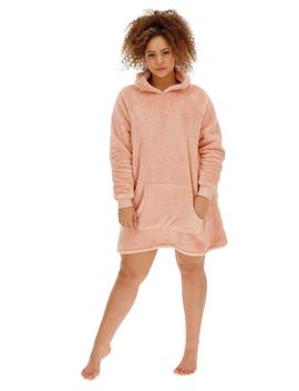 Pretty Lounge Snuggle Fleece Dress by Simply Be