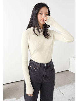 Linen Silk Blend Sweater by & Other Stories