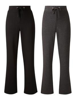 Capsule Leisure 2 Pack Open Hem Jogger by Simply Be
