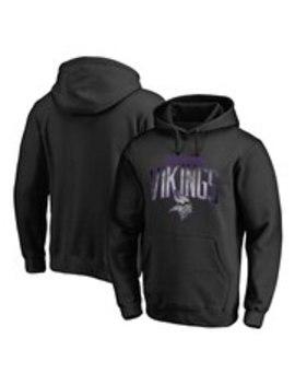 Men's Minnesota Vikings Nfl Pro Line By Fanatics Branded Black Arch Smoke Pullover Hoodie by Nfl