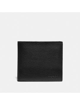 Double Billfold Wallet With Signature Canvas Blocking by Coach