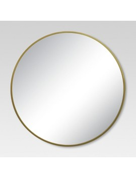 Round Decorative Wall Mirror Brass   Project 62™ by Shop Collections