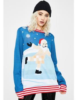 Censored Skater Ugly Christmas Sweater by Tipsy Elves