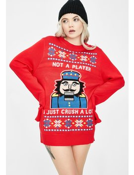 I Just Crush A Lot Ugly Christmas Sweater by Tipsy Elves