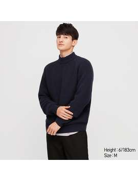 Middle Gauge High Neck Long Sleeve Sweater by Uniqlo