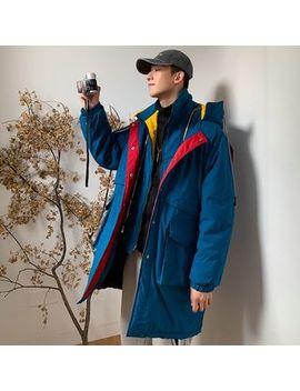 Deepwood   Color Block Hooded Padded Coat by Deepwood