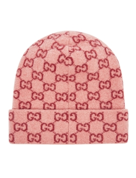 Gg Logo Intarsia Wool Beanie by Gucci