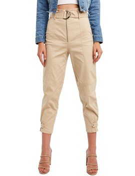 Belted Crop Pants by Bardot