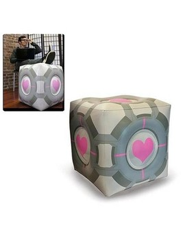 Crowded Coop, Llc Portal Original Companion Cube Inflatable Ottoman by Portal