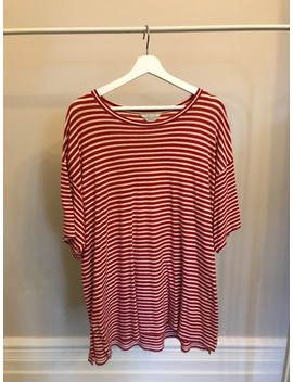 Unused Ss15 Red Striped Tee by Unused  ×