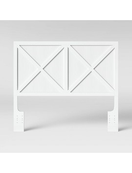 Beadboard Farmhouse Full/Queen Headboard White   Threshold™ by Shop This Collection