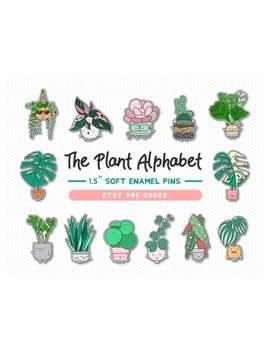 Preorder: House Plants Soft Enamel Pin // Botanical Pin // Pin Collection // Plant Gifts // The Plant Alphabet by Etsy