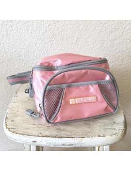Vintage Pink Gray Athletic Fanny Pack Waist Bag by Vintage