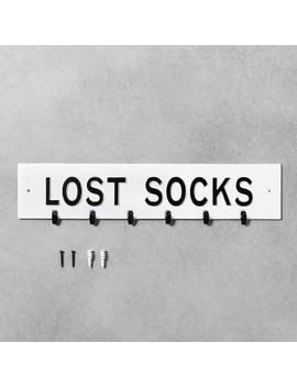 Wall Sign Lost Socks White   Hearth & Hand™ With Magnolia by Shop This Collection