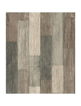 Dark Weathered Plank Peel & Stick Wallpaper Brown   Room Mates by Room Mates