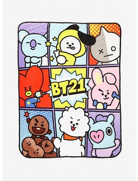 Bt21 Character Panel Throw Blanket by Hot Topic