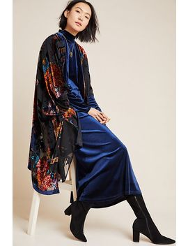 Loretta Burnout Velvet Kimono by Anthropologie