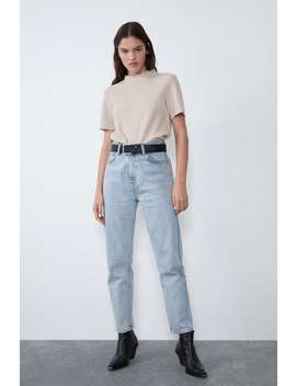 Soft Touch Mock Neck T Shirt by Zara