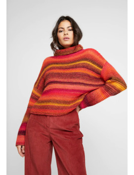 Chunky Stitching Turtle Neck Stripe   Trui by Benetton