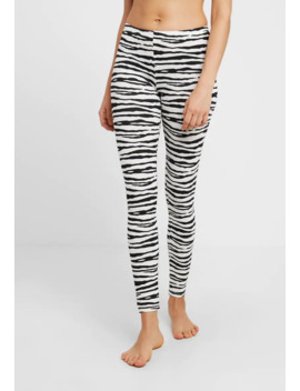 Carbon Brushed Stretch Leggings With Repeat Pattern   Pyjamabroek by Benetton