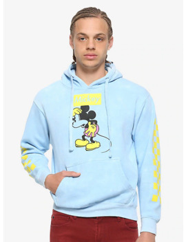 Disney Mickey Mouse Check Sleeve Hoodie by Hot Topic
