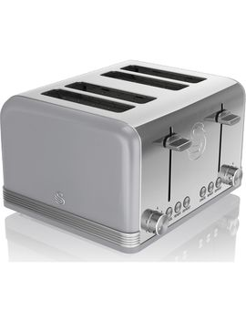 Retro St19020 Grn 4 Slice Toaster   Grey by Currys
