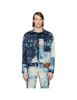 Indigo Soto Hand Bleached Denim Jacket by S.R. Studio. La. Ca.