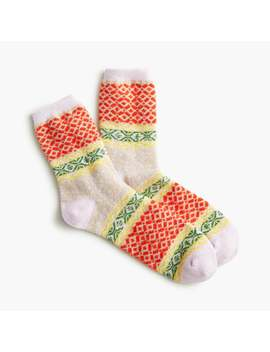 Ankle Boot Socks In Fair Isle by J.Crew