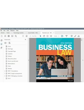 Pdf/E Book   Business Law   4th Edition   Nickolas James (2017) by Ebay Seller