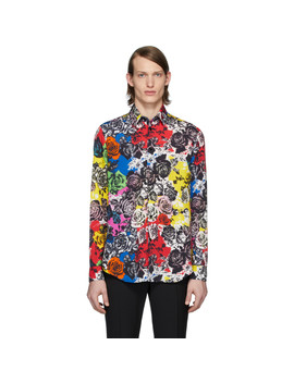 Multicolor Flower Shirt by Versace