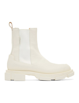 Ssense Exclusive Off White Gao Chelsea Boots by Both