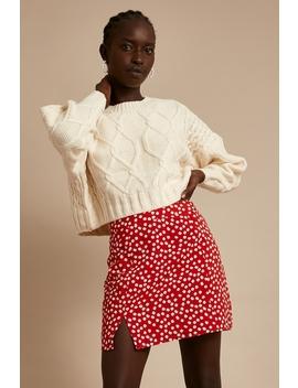 Siena Mini Skirt Red Print by Perfect Stranger