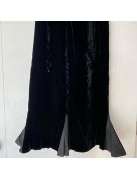 Vintage Nina Ricci Velvet Trumpet Skirt by Vintage