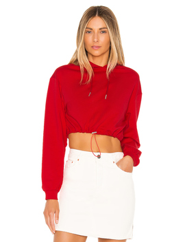 Nya Drawstring Cropped Hoodie by Superdown