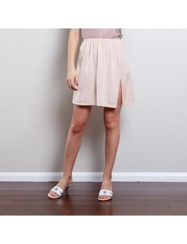 Vintage Pastel Pink Slip Skirt by Vintage