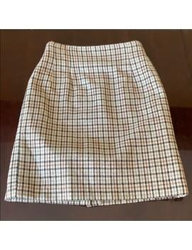 Vintage Wool Blend Plaid Mini Skirt by Vintage