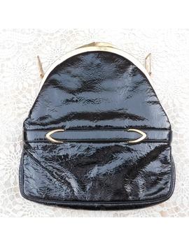 Vintage 50s Block Black Pattern Leather Bag Purse by Block