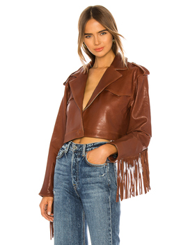 Sadie Leather Fringe Jacket by Grlfrnd