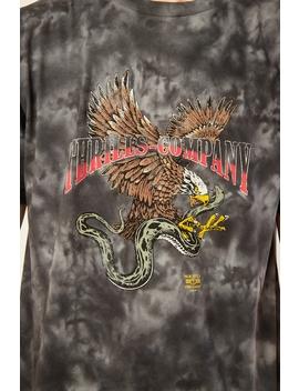 Eagle Vs. Snake Merch Fit Tee Oilspill Black Tie Dye by Thrills