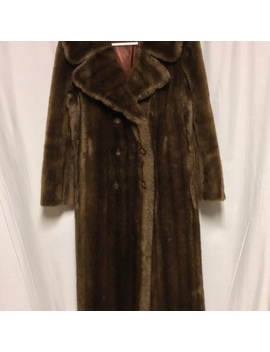 Vintage Faux Fur Coat Mink Full Length Coat by Poshmark