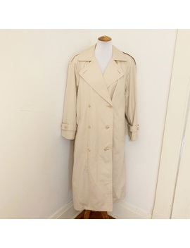 London Fog Tan Khaki Trench Coat 10p by London Fog