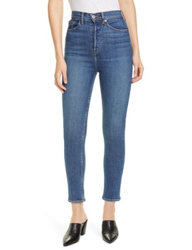 Ultra High Rise Ankle Skinny Jeans by Re/Done