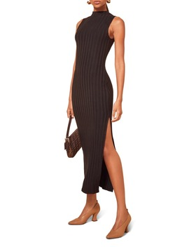 Lynn Sleeveless Ribbed Sweater Dress by Reformation