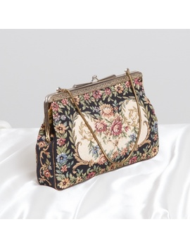 Antique Floral Handbag by Vintage