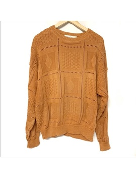 Bellagio Vintage Pumpkin Spice Orange Sweater L by Vintage
